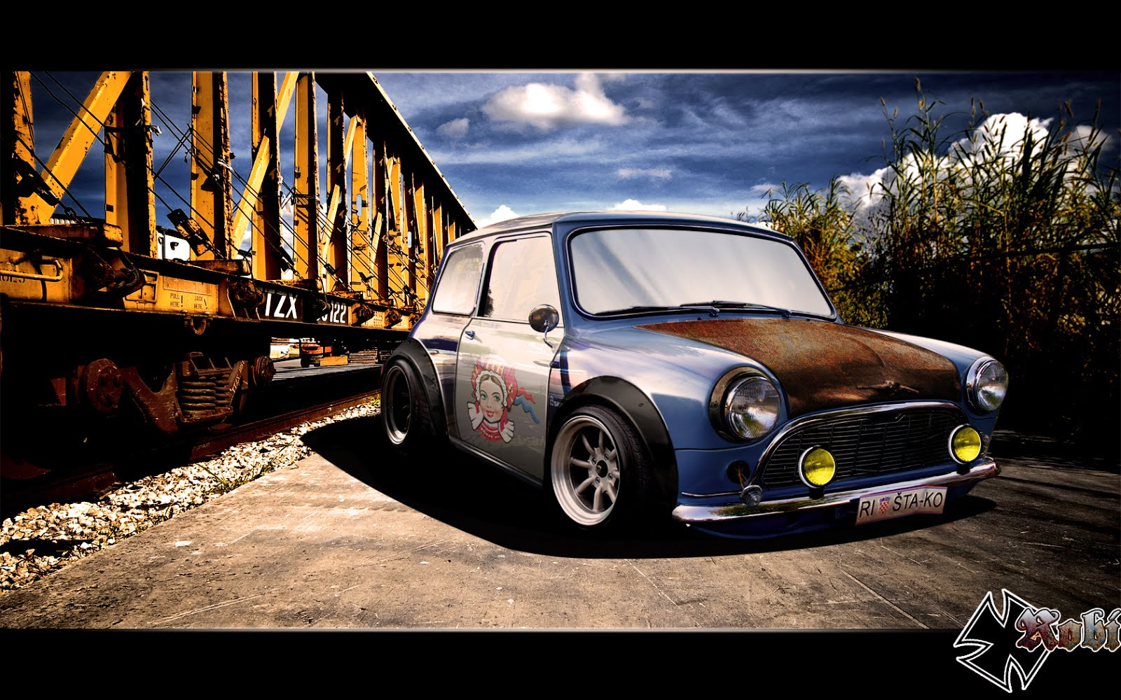 Cooper Mini Wallpapers Topless Modified Colours Steakers
