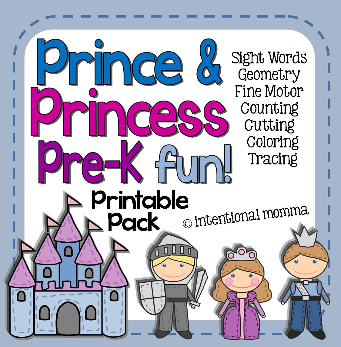 worksheets fairytale unit preschool kindergarten math sight words literacy knight castle