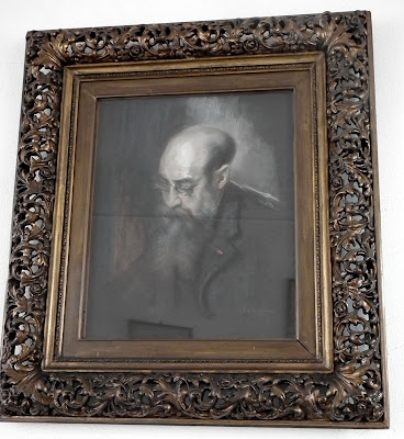 Nicolae Iorga painting at his Memorial House, Valenii de Munte