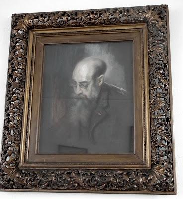 Nicolae Iorga painting at his Memorial House, Valenii de Munte