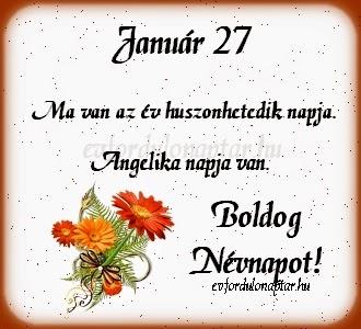 Január 27, Angelika névnap