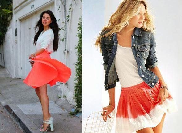 С чем носить юбку солнце короткую фото