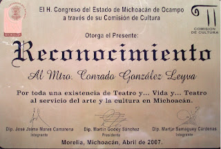 RECONOCIMIENTO DEL CONGRESO DEL ESTADO DE MICHOACN DE OCAMPO