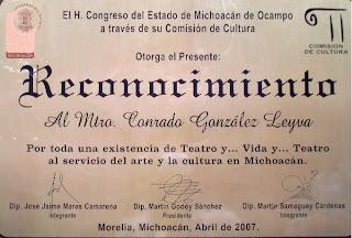 RECONOCIMIENTO DEL CONGRESO DEL ESTADO DE MICHOACÁN DE OCAMPO