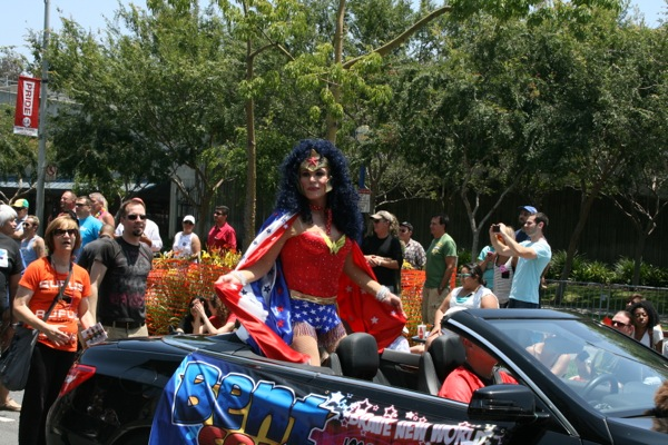 Drag Wonder Woman LA Pride Parade 2013