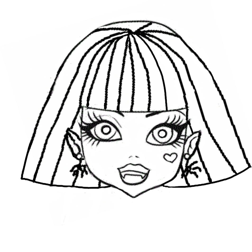 Dibujos y Plantillas para imprimir: Mascaras Monster High