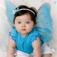 Style Baby With Wings Picture & Blue Dress Images