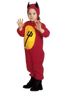 Lille djævlebarn Halloween Kostume