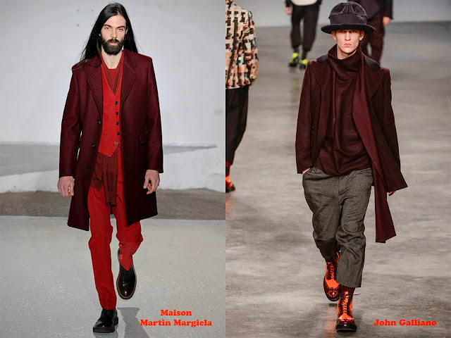 Tendencia otoño_invierno 2013-14 color burdeos: Maison Martin Margiela y John Galliano