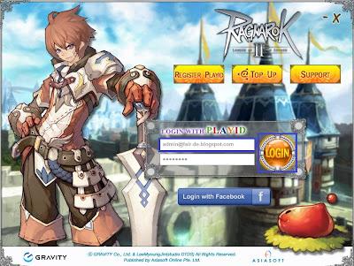 Tampilan Halaman Login Ragnarok Online 2