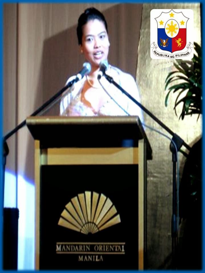 Ambassador Zara Jane Juan speaks @ Mandarin Hotel