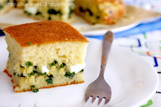 Заливной пирог луком рецепт фото