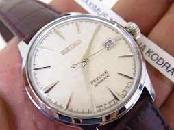 SEIKO PRESAGE WHITE TEXTURED DIAL - SEIKO SRPC03J1 LIMITED EDITION 0917 / 3500 COCTAIL TIME SAKURA