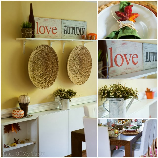 fall dinning room decorating