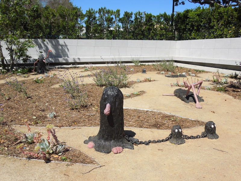 West Hollywood Park Temple of Folly sculptures