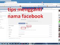 Cara mengganti nama di facebook dengan mudah
