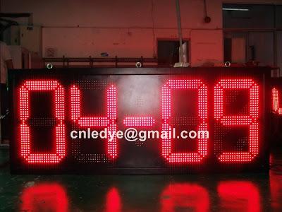 outdoor led timer, big led clock