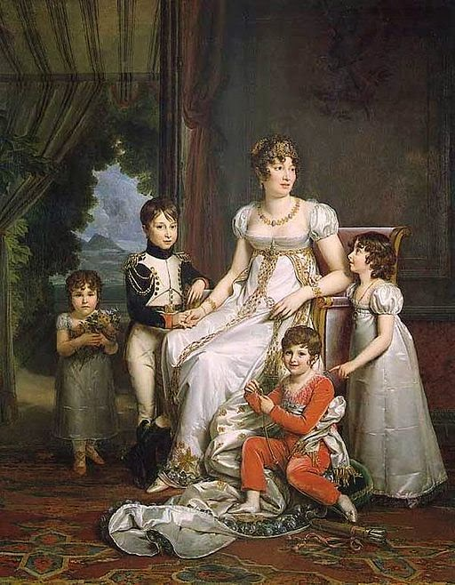 Caroline Bonaparte Murat and her Children by François Gérard, 1808
