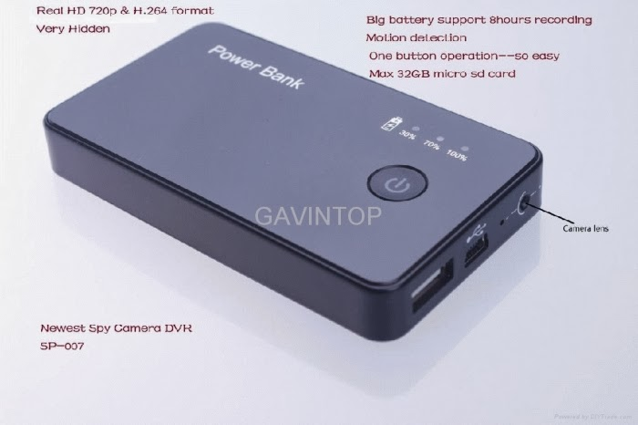 Spy Cam Power Bank 3000 mAh HD DVR Motion Detection  rekam 8 Jam b