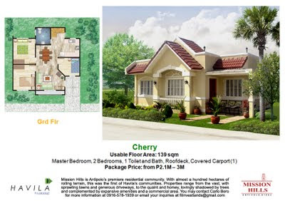 Mission Hills Antipolo | House Model Cherry