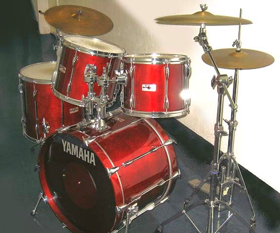 Hudson river percussion yamaha red mahogany drum kit for Electric drum set yamaha