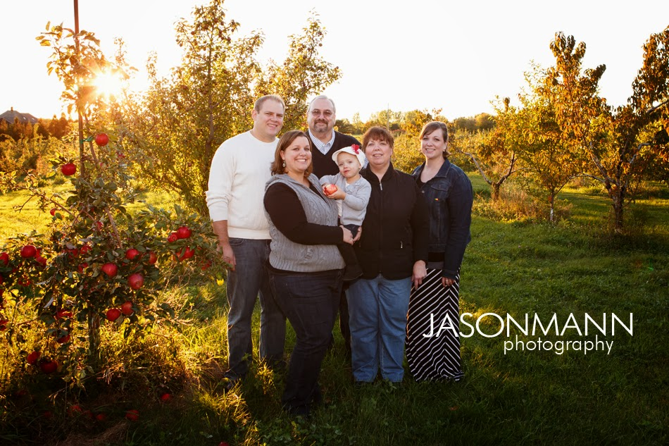 Door County Family Portraits, Apple Harvest