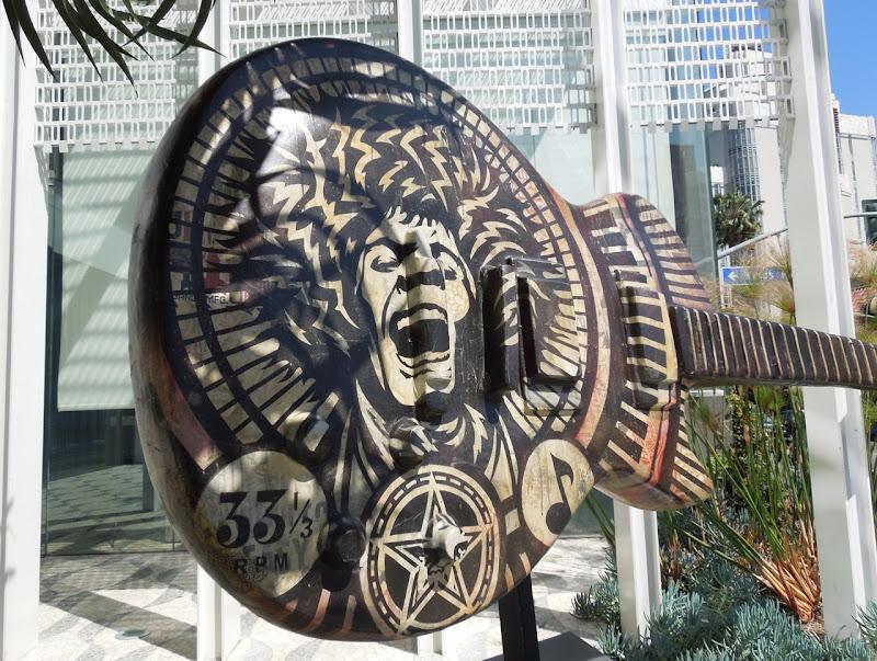 Electric Warrior GuitarTown sculpture