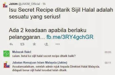 secret recipe haram