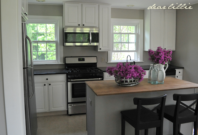 Behr Kitchen Cabinet Paint dear lillie: how we painted our kitchen cabinets (two approaches