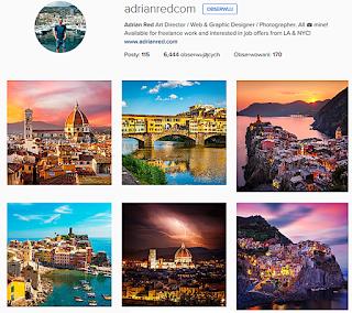 Adrian Red, ciekawe profile podróżnicze