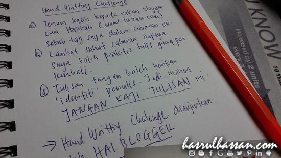 Tulisan Tangan Seorang Blogger