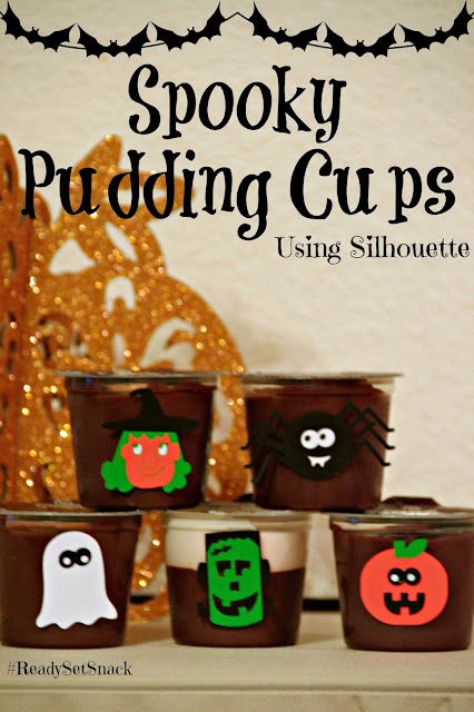 Hershey's Ready to Eat Pudding, Spooky Pudding Cup tutorial, Frozen Pudding Pops recipe, Silhouette tutorial, halloween, #Cbias, #ReadySetSnack