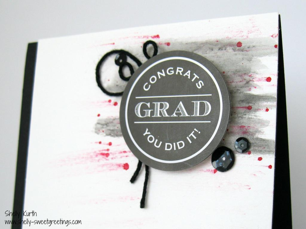 SRM Stickers Blog - Graduation Card Tutorial by Shelly - #card #graduation #stickers #twine #SRM