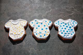 3 baby onesie cookies