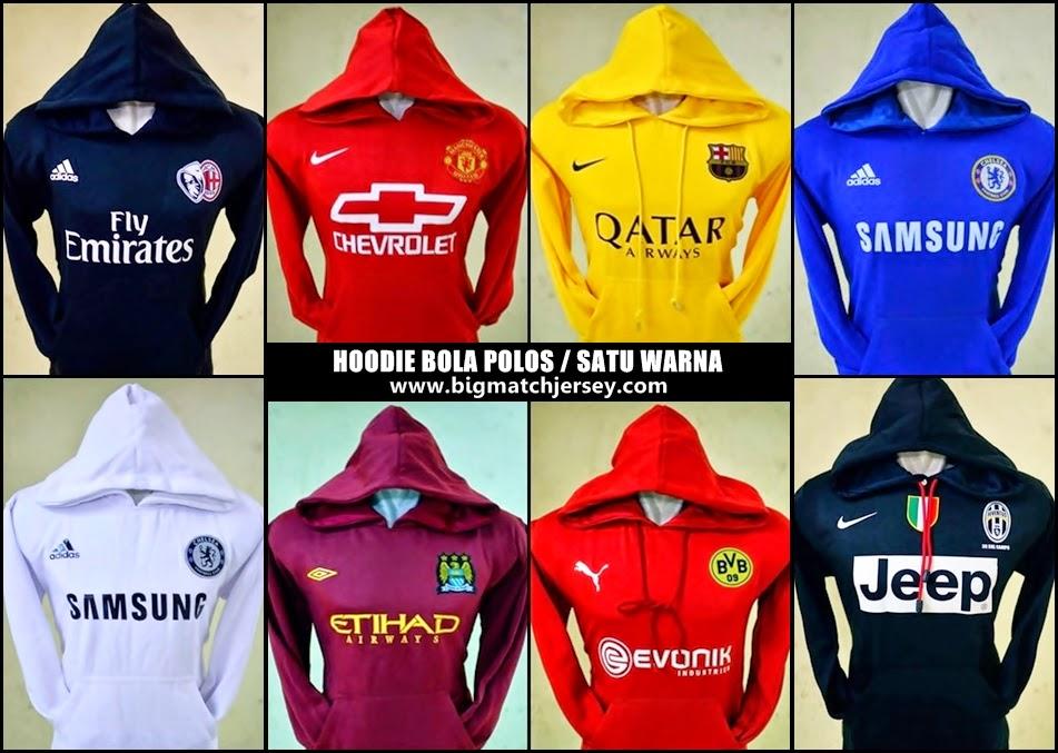 Jumper Hoodie Bola Polos (Satu Warna) - Jaket Bola Krudung Terbaru 2014-2015