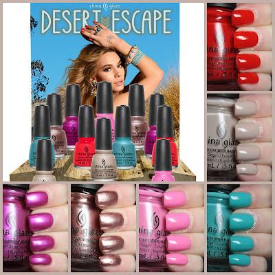 china glaze desert escape review swatches