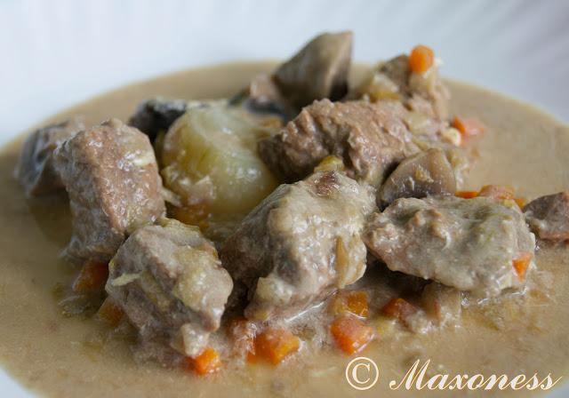 Рагу из телятины в старинном вкусе. Французская кухня.