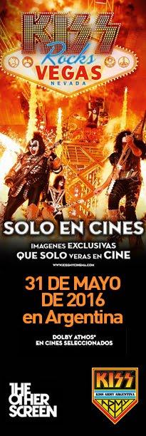 """Kiss Rocks Vegas"" 31 de mayo en Argentina"