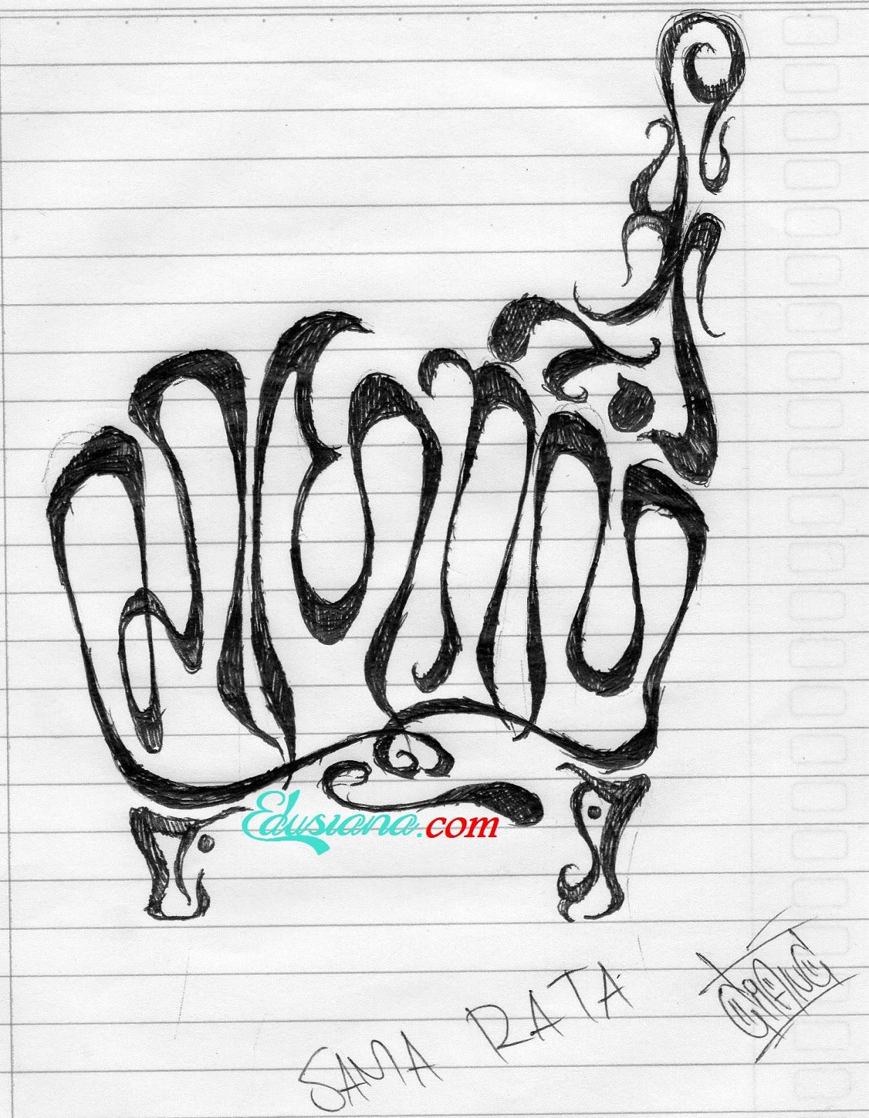 Contoh Gambar kaligrafi aksara jawa