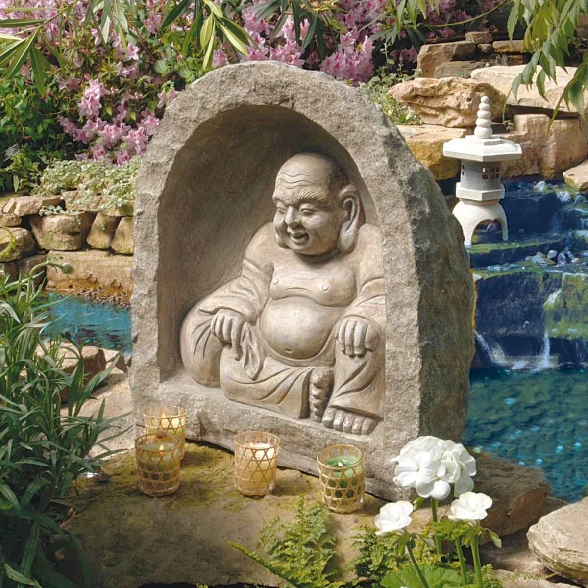 buddha statue for garden sanctuary garden buddha statues. Black Bedroom Furniture Sets. Home Design Ideas