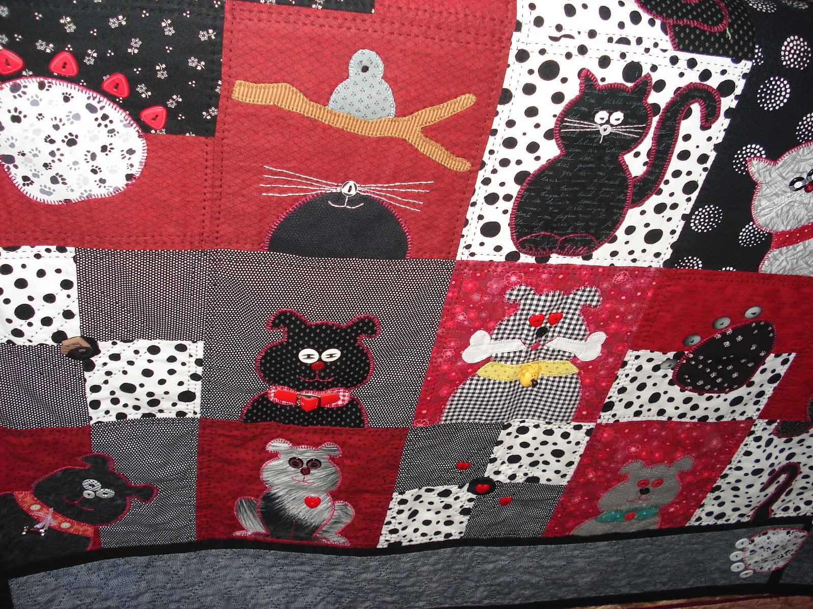 Nelleke 39 s quilts honden en kattenquilt for Quilt maken met naaimachine