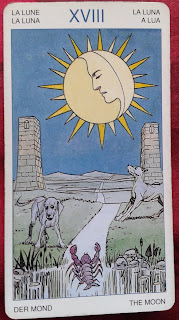 Arcano XVIII- La Luna- Tarot Universal