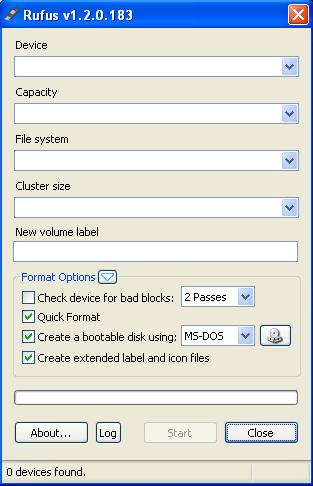 how to create ms dos startup disk