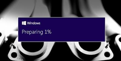 Preparing Windows 10 update