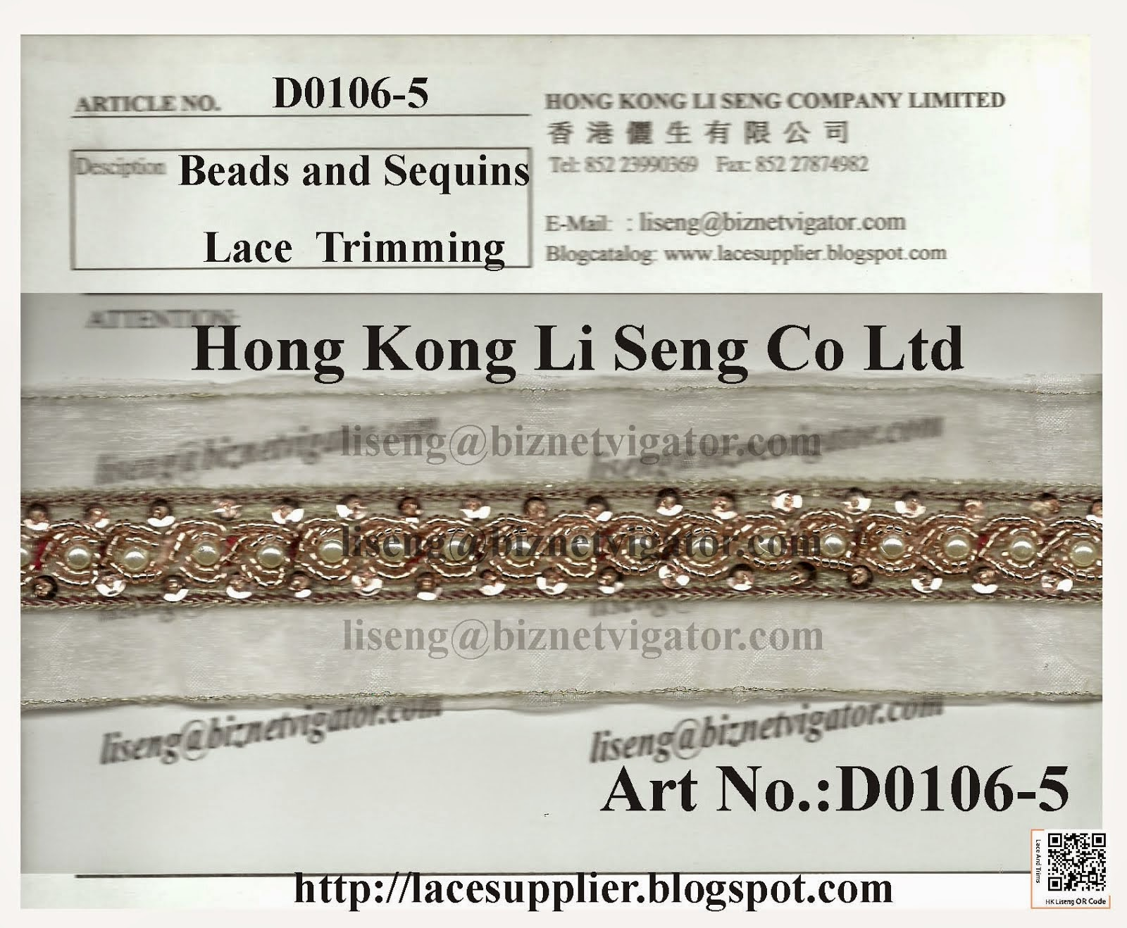 Beads and Sequins Trimming Manufacturer Wholesaler Supplier - Hong Kong Li Seng Co Ltd
