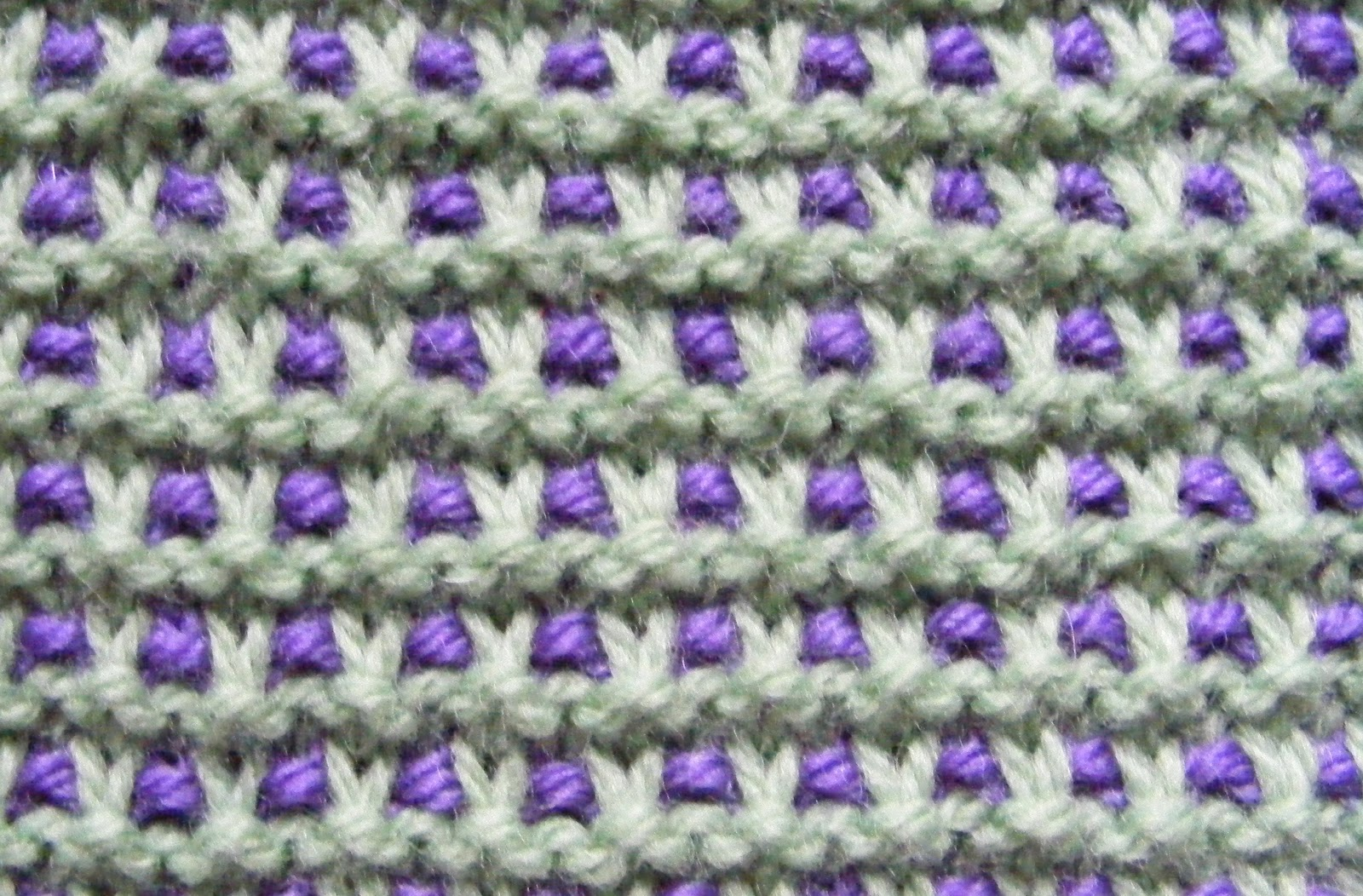 Chalk Cottage Knitting: Variation on Garter Slip Stitch