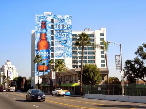 Giant Bud Light billboard Sunset Strip