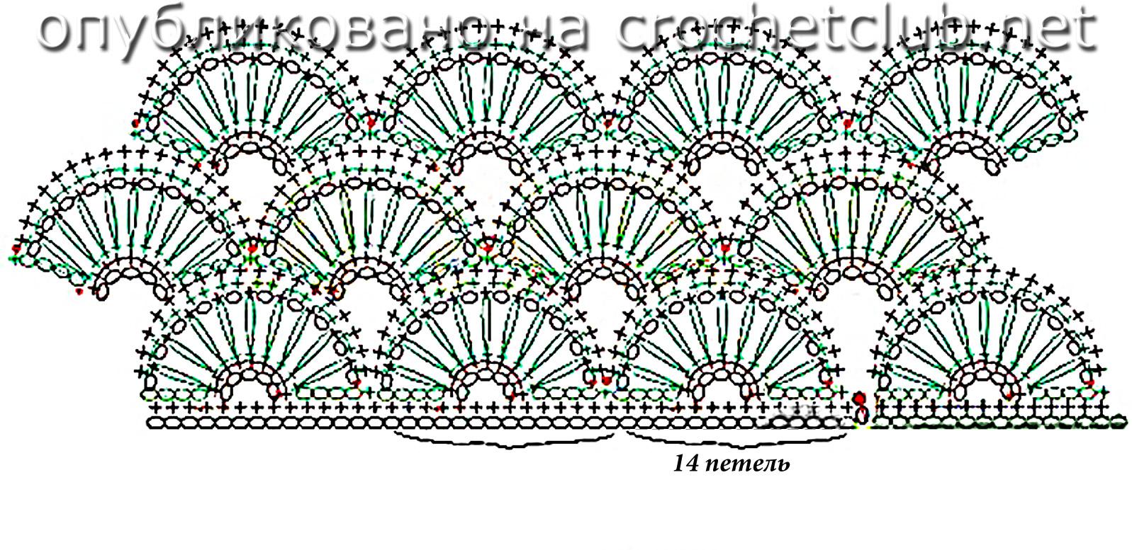 Вязание крючком схемы ракушка - Вязание - фото из журналов