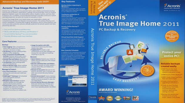 Acronis true image 2011 full version.