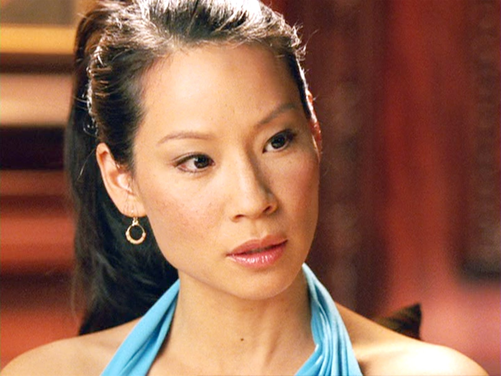 "The movie ""Charlie's Angels: Full Throttle"", directed by McG. Seen here, Lucy Liu as Alex Munday. Initial theatrical release June 27, 2003. Screen capture."